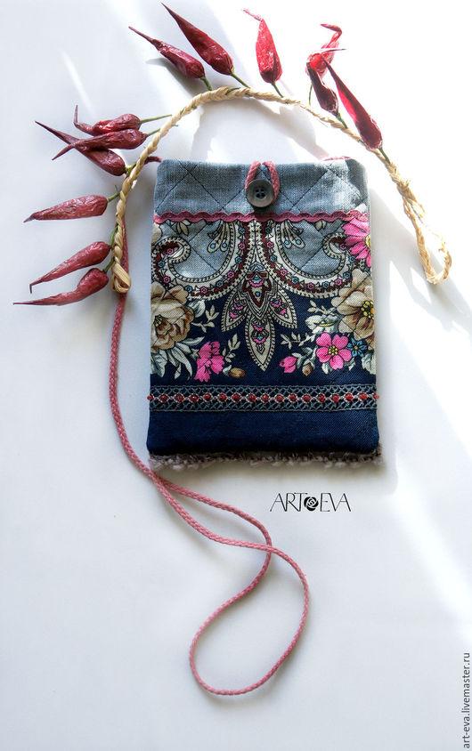 Женские сумки ручной работы. Ярмарка Мастеров - ручная работа. Купить Сумка-карман. Handmade. Тёмно-синий, сумка-карман