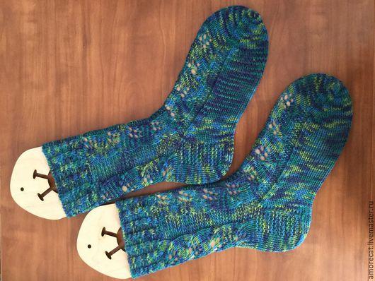 Носки, Чулки ручной работы. Ярмарка Мастеров - ручная работа. Купить вязанные носочки. Handmade. Разноцветный, подарок, носки спицами