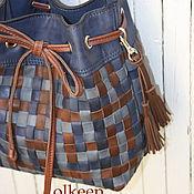 Сумки и аксессуары ручной работы. Ярмарка Мастеров - ручная работа Wicker кожаная сумка-торба. Handmade.