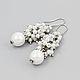 Мирабель-бижутерия. Серьги-грозди из белого жемчуга, на свадьбу, для невесты, на лето, на море, нежные, фото, под серебро. Купить серьги в Москве. Mirabelle. Handmade. Earrings with white pearls