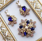 Украшения handmade. Livemaster - original item Brooch and earrings