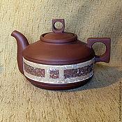"""Посуда ручной работы. Ярмарка Мастеров - ручная работа чайник """"квадратура круга"""". Handmade."""