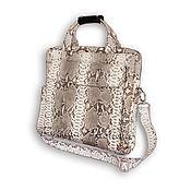 Сумки и аксессуары handmade. Livemaster - original item Laptop bag made from Python KORNEIL. Handmade.