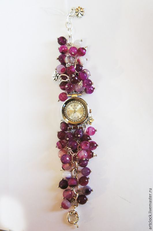 Часы ручной работы. Ярмарка Мастеров - ручная работа. Купить Наручные часы. Handmade. Наручные часы, браслет, агат, часы