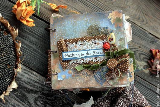 Персональные подарки ручной работы. Ярмарка Мастеров - ручная работа. Купить Мини Альбом Золотая Осень. Handmade. Разноцветный