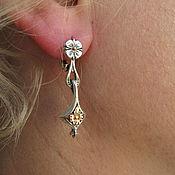 Украшения handmade. Livemaster - original item Earrings in sterling silver
