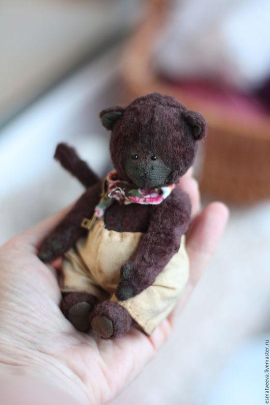 Мишки Тедди ручной работы. Ярмарка Мастеров - ручная работа. Купить Шоколадкин. Handmade. Коричневый, тедди, мартышка, шплинты