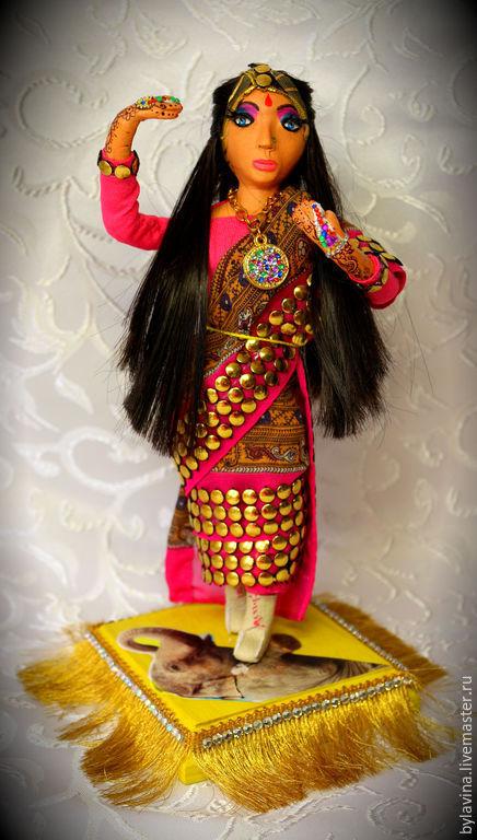 """Коллекционные куклы ручной работы. Ярмарка Мастеров - ручная работа. Купить Авторская кукла """"Индианка"""". Handmade. Разноцветный, Брюнетка"""
