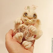 Куклы и игрушки ручной работы. Ярмарка Мастеров - ручная работа Зая - Милый Ангел, авторская войлочная игрушка.. Handmade.