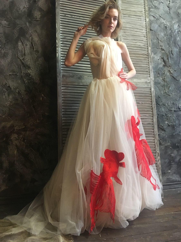 Сюрреалистическое Платье с рыбками, Платья, Москва,  Фото №1