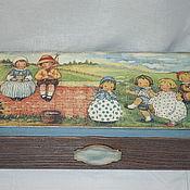 """Для дома и интерьера ручной работы. Ярмарка Мастеров - ручная работа Короб """"Детские забавы"""". Handmade."""