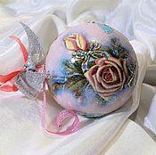 """Подарки к праздникам ручной работы. Ярмарка Мастеров - ручная работа Елочный шар """"Розовая глазурь"""". Handmade."""