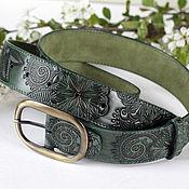 Аксессуары handmade. Livemaster - original item Strap Emerald green. Handmade.