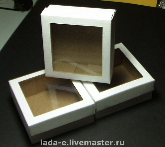Wrapping Supplies handmade. Livemaster - handmade. Buy box with window.White, packaging, gift wrap, gift packing, cardboard