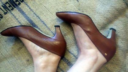 Винтажная обувь. Ярмарка Мастеров - ручная работа. Купить винтаж туфли кожаные Оригинал Испания 38,5. Handmade. Коричневый