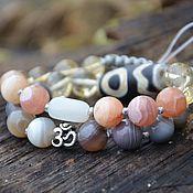Фен-шуй и эзотерика handmade. Livemaster - original item Double talisman bracelet with mantra and JI bead-personal order. Handmade.