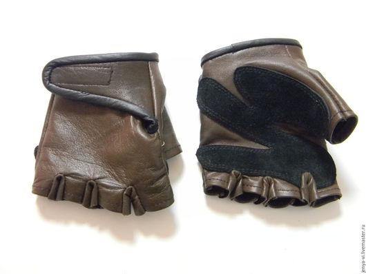 Перчатки из кожи без пальцев, кожаные перчатки для водителя, митенки