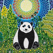 Картины и панно ручной работы. Ярмарка Мастеров - ручная работа Милая панда. Handmade.