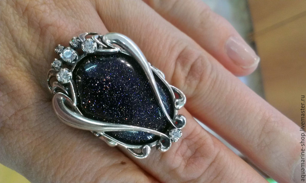 кольца с авантюрином