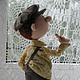 Коллекционные куклы ручной работы. Колбаска.... Наталья Савинова куклы из шерсти. Интернет-магазин Ярмарка Мастеров. Мальчику, авторская игрушка