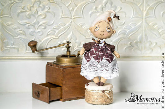 Ароматизированные куклы ручной работы. Ярмарка Мастеров - ручная работа. Купить Капелька утреннего кофе!. Handmade. Коричневый, винтаж, кофе