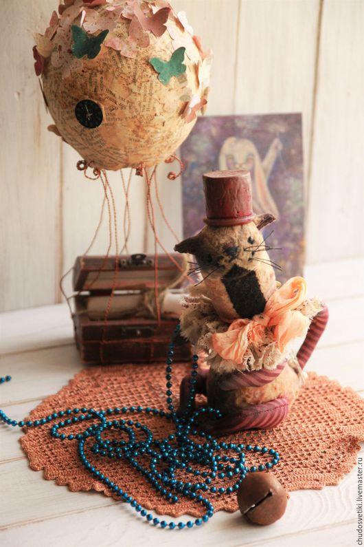 Мишки Тедди ручной работы. Ярмарка Мастеров - ручная работа. Купить Одинокий кот мечтает познакомиться..... Handmade. Бежевый