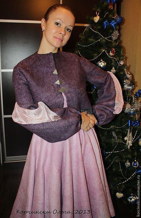 """Пиджаки, жакеты ручной работы. Ярмарка Мастеров - ручная работа. Купить Жакет валяный """"Джульетта"""". Handmade. Тёмно-фиолетовый"""