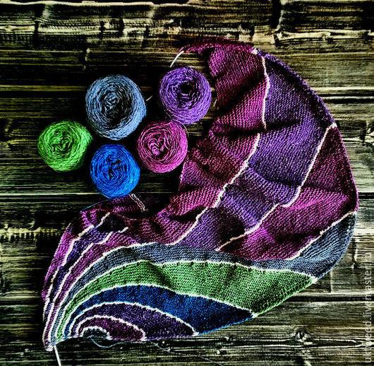 Вязание ручной работы. Ярмарка Мастеров - ручная работа. Купить Самарканд - 75% шерсть, 25% - шелк. Handmade. Фиолетовый