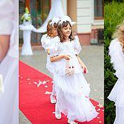 Свадебный салон ручной работы. Ярмарка Мастеров - ручная работа Платье , корзинка и ободок для волос. Handmade.