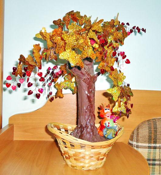 """Бонсай ручной работы. Ярмарка Мастеров - ручная работа. Купить Бонсай """"Дерево счастья"""". Handmade. Подарок на день рождения"""