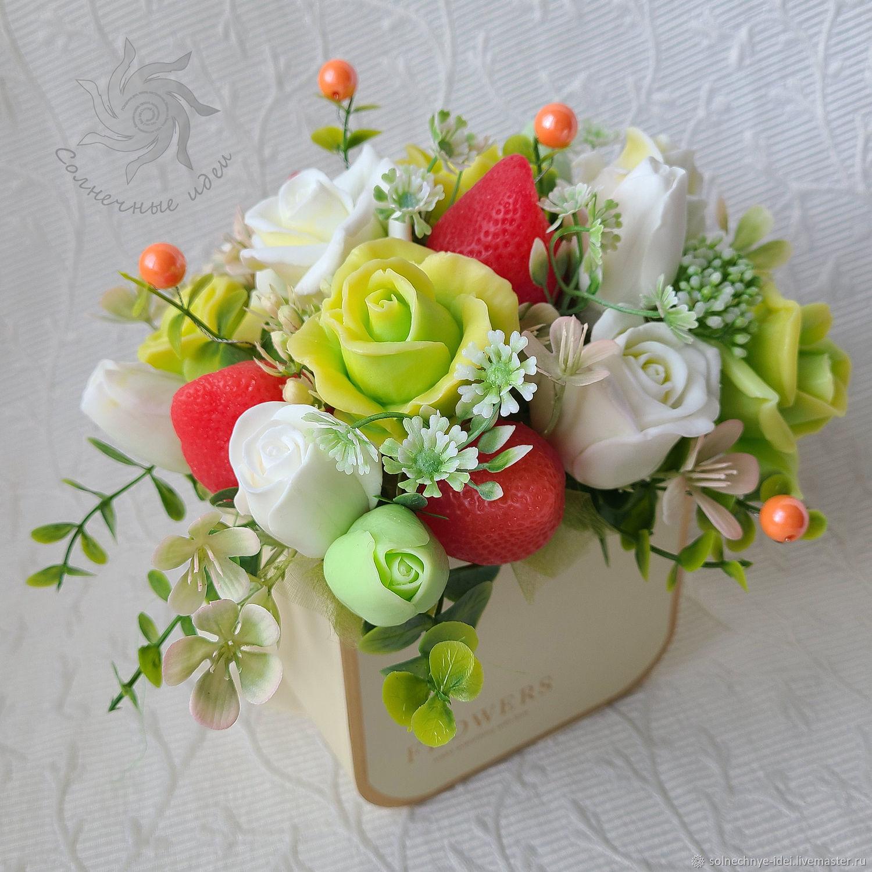 """Букет цветов из мыла """"Весенняя свежесть"""", Подарки на 8 марта, Москва,  Фото №1"""