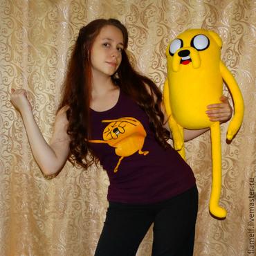 Куклы и игрушки ручной работы. Ярмарка Мастеров - ручная работа Adventure Time Джейк большой (80 см). Handmade.