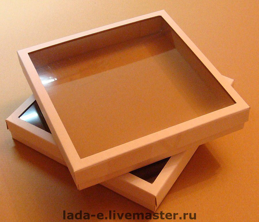 Box for packaging made of cardboard with a window, Packaging, Moscow,  Фото №1