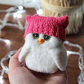 Куклы и игрушки handmade. Livemaster - original item Owl in a cap hand toy made of wool. Handmade.