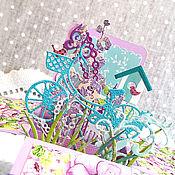 """Прогулка на велосипеде"" открытка-коробочка pop-up"