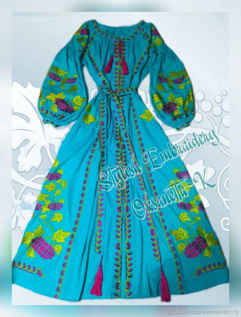 Embroidered dress 'Kalina', Dresses, Zaporozhye,  Фото №1