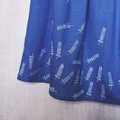 """Одежда ручной работы. Ярмарка Мастеров - ручная работа Юбка с ручной набойкой """"Веточка"""". Handmade."""