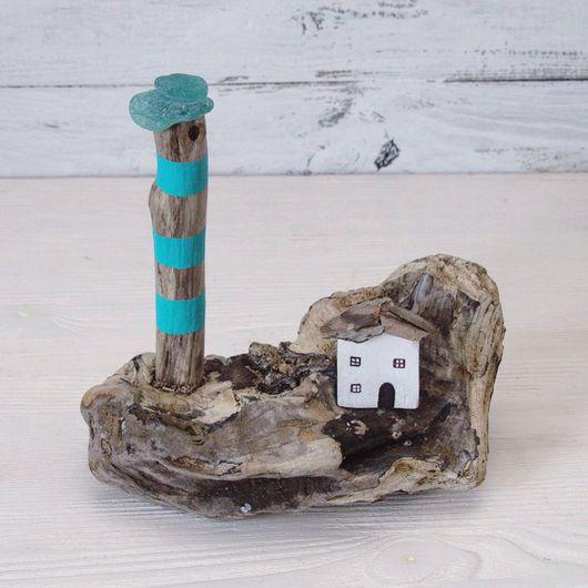 Подарочные наборы ручной работы. Ярмарка Мастеров - ручная работа. Купить Морской островок из морских коряг (дрифтвуд). Handmade. Украшение