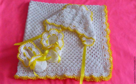"""Для новорожденных, ручной работы. Ярмарка Мастеров - ручная работа. Купить Комплект для новорожденного """"Солнышко"""". Handmade. Для новорожденного"""