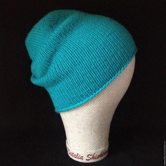 Шапки ручной работы. Ярмарка Мастеров - ручная работа. Купить Шапка бини. Handmade. Морская волна, осенняя шапка