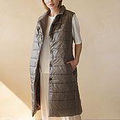 Одежда handmade. Livemaster - original item Women`s insulated vest Haki. Handmade.