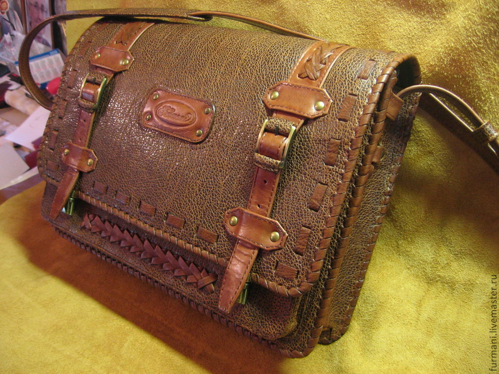 Сделать своими руками сумку из кожи