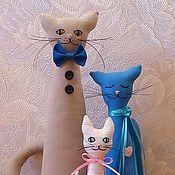 Куклы и игрушки ручной работы. Ярмарка Мастеров - ручная работа Кошки. Мама, папа и ребёнок-котёнок.. Handmade.