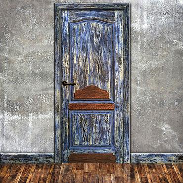 Для дома и интерьера ручной работы. Ярмарка Мастеров - ручная работа Декорирование межкомнатной двери в стиле лофт.. Handmade.