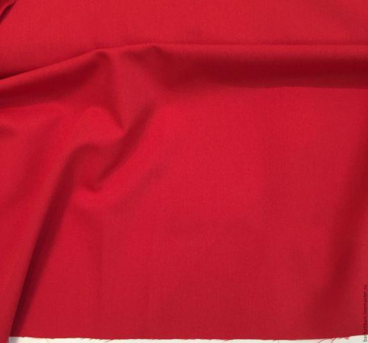 Шитье ручной работы. Ярмарка Мастеров - ручная работа. Купить Костюмная ткань. Handmade. Ярко-красный, 54% хлопок
