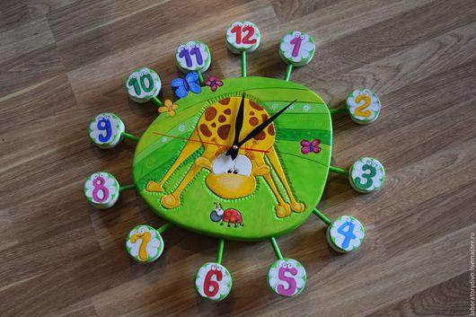 Часы для дома ручной работы. Ярмарка Мастеров - ручная работа. Купить Часы детские настенные. Handmade. Подарок для ребенка