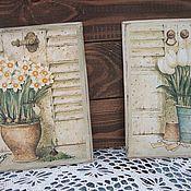"""Картины и панно ручной работы. Ярмарка Мастеров - ручная работа панно  """" Цветы прованса"""". Handmade."""