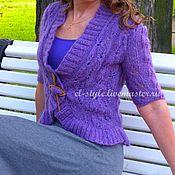 Одежда ручной работы. Ярмарка Мастеров - ручная работа Сиренево-фиолетовое вязаное болеро. Handmade.
