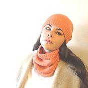 Аксессуары ручной работы. Ярмарка Мастеров - ручная работа Кашемировый комплект из шапки и снуда lameloro. Handmade.