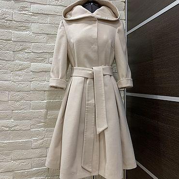 Одежда ручной работы. Ярмарка Мастеров - ручная работа Пальто-платье с капюшоном. Handmade.